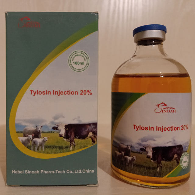 Tylosin Tartrate 20%  Injection