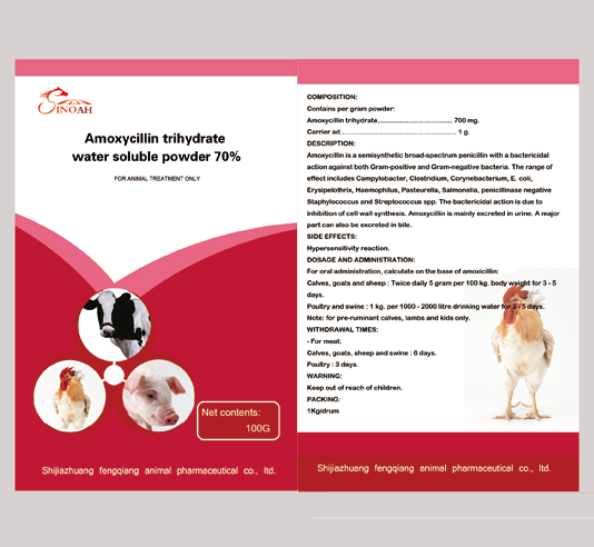 Premix and Water Soluble Powder Amoxycillin trihyd
